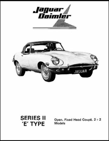 Jaguar XKE Series 2 Illustrated Parts Manual (Complete
